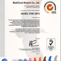 采曜生醫通過 ISO-27001驗證